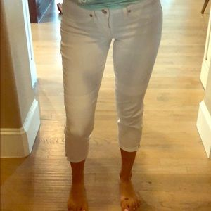 White Bebe Cropped jeans